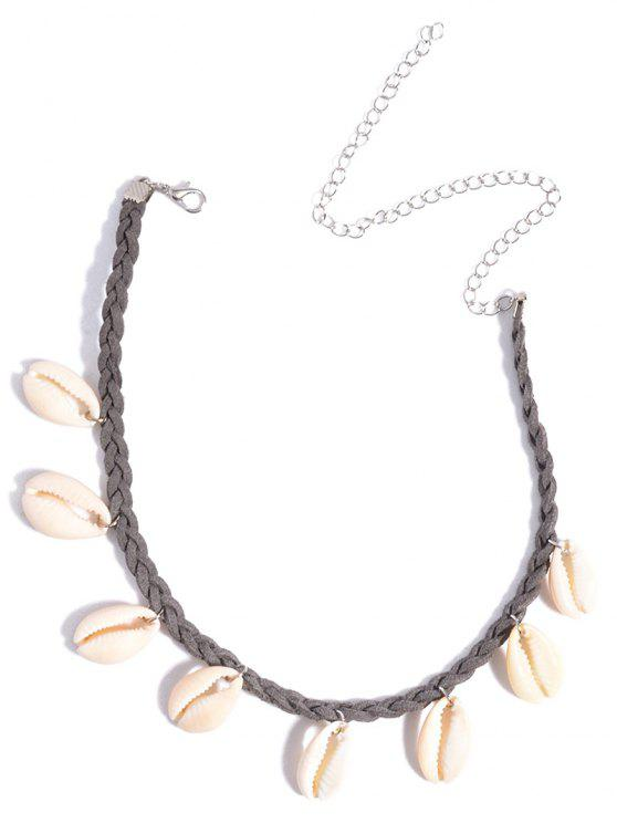 affordable Shell Braid Chokers Necklace - GRAY