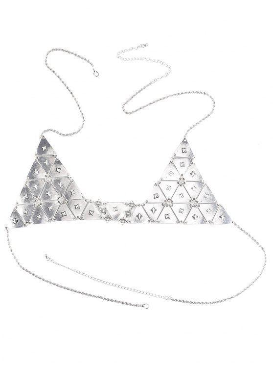 online Punk Triangle Bra Body Chain - SILVER
