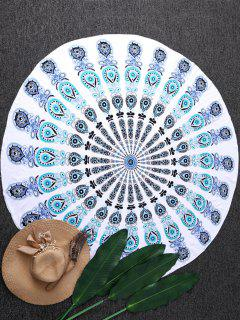 Sandless Round Beach Mat - Blue And Green