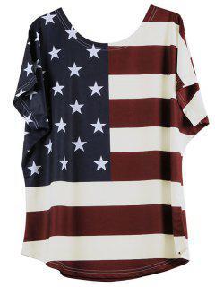 Modelo De Estrella Camiseta A Rayas - Blancuzco 4xl