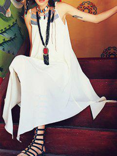 Midi Hankerchief Dress - Off-white S