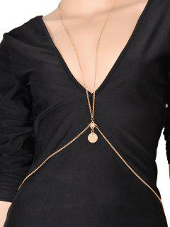 Coin Crossed Body Chain - Golden