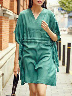 Green Kaftan Dress - Green