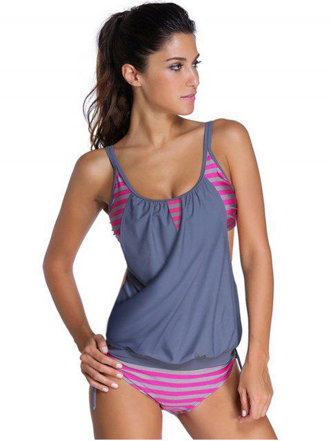 maillot de bain à rayures - gris XL Mobile