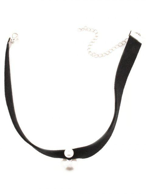 ladies Punk Fake Pearl Choker Necklace -   Mobile