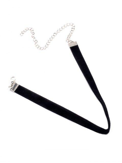 outfit Adjustable Alloy Velvet Chokers Necklace - BLACK  Mobile