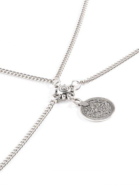 outfit Coin Crossed Body Chain - SILVER  Mobile