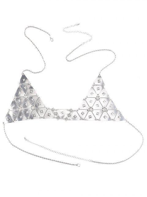 online Punk Triangle Bra Body Chain - SILVER  Mobile