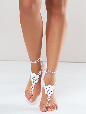 Blumengewebte Sandale Fußkettchen