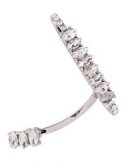 Sparkly Rhinestone Cuff Earring - Silver