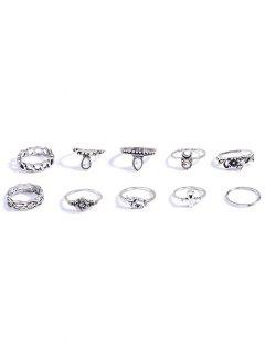 Ensembled De Bagues En Strass Alliage - Argent