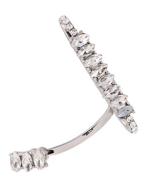 women's Sparkly Rhinestone Cuff Earring - SILVER  Mobile