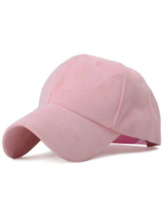 fashion Ice-Cream Color Suede Baseball Hat - PINK