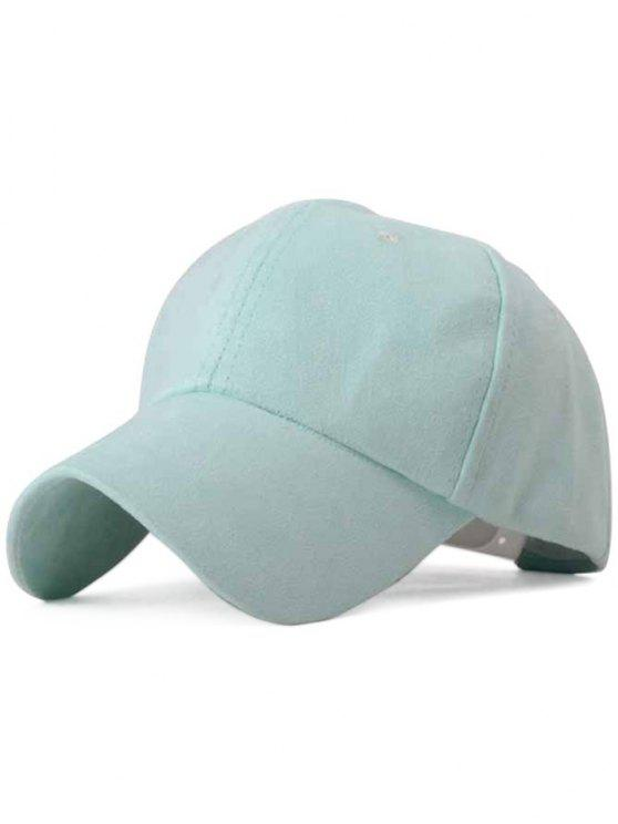 fancy Ice-Cream Color Suede Baseball Hat - MINT GREEN