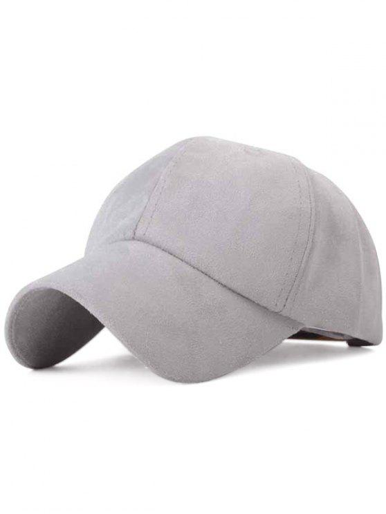 unique Ice-Cream Color Suede Baseball Hat - GRAY