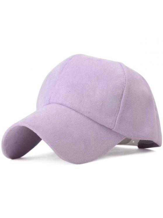 sale Ice-Cream Color Suede Baseball Hat - LIGHT PURPLE