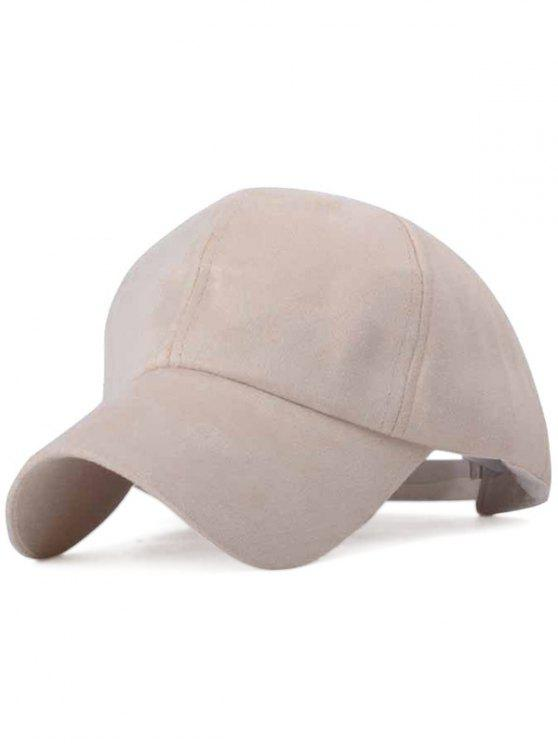 affordable Ice-Cream Color Suede Baseball Hat - LIGHT KHAKI