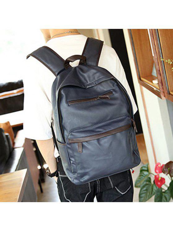 حقيبة الظهر مريح بجلد اصطناعي - أزرق