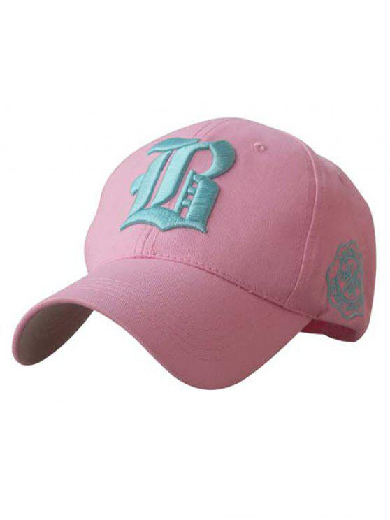 hot Gothic Letter Embroideried Baseball Hat - PINK