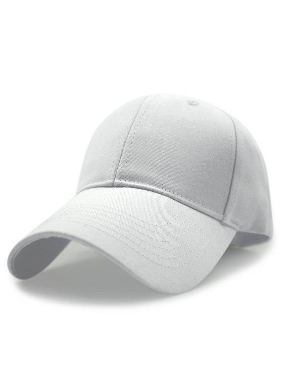 chic Solid Color Sunscreen Baseball Hat - WHITE