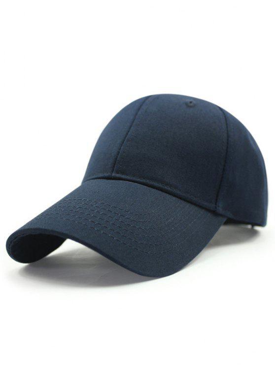 لون الصلبة واقية من الشمس قبعة البيسبول - ازرق غامق