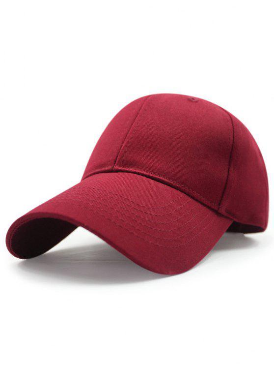 Sólido protección solar del color del sombrero de béisbol - Burdeos