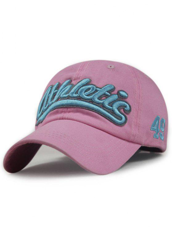 lady Letter Embroideried Baseball Hat - PINK