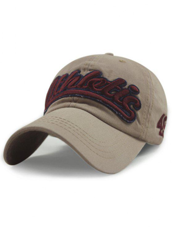 Carta Embroideried sombrero de béisbol - Caqui