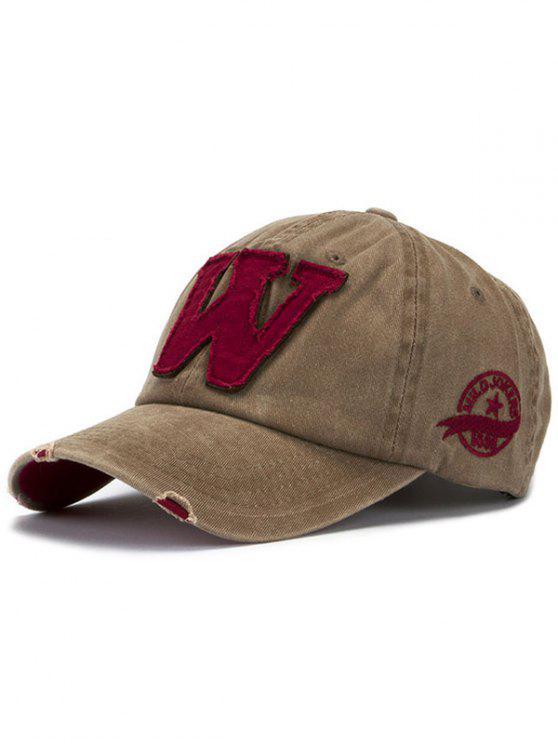 women's Letter W Baseball Hat - KHAKI