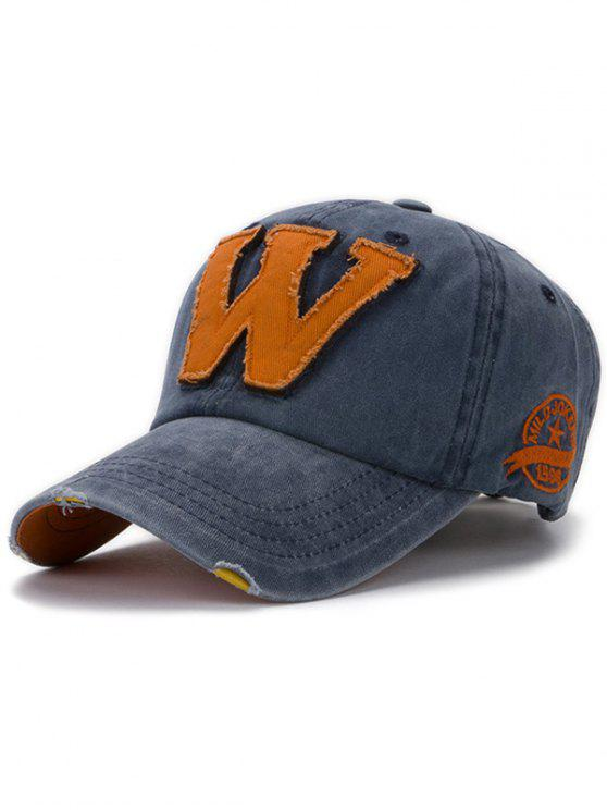 hot Letter W Baseball Hat - DENIM BLUE