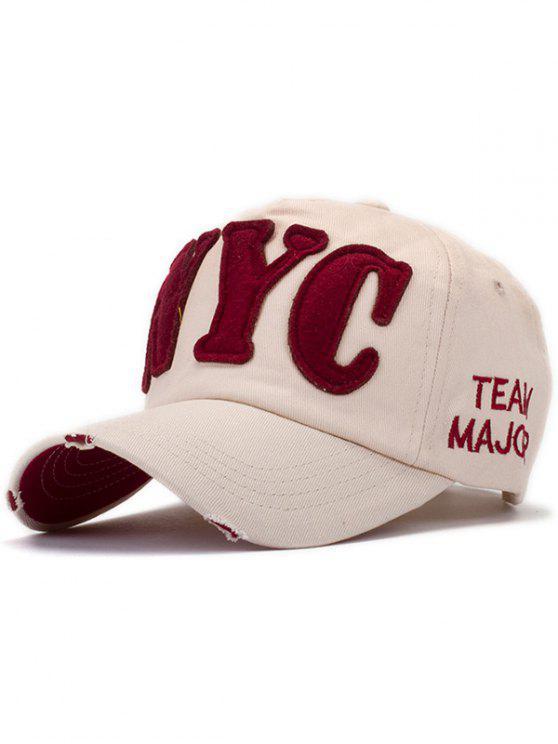 shop Letter Applique Baseball Hat - LIGHT KHAKI