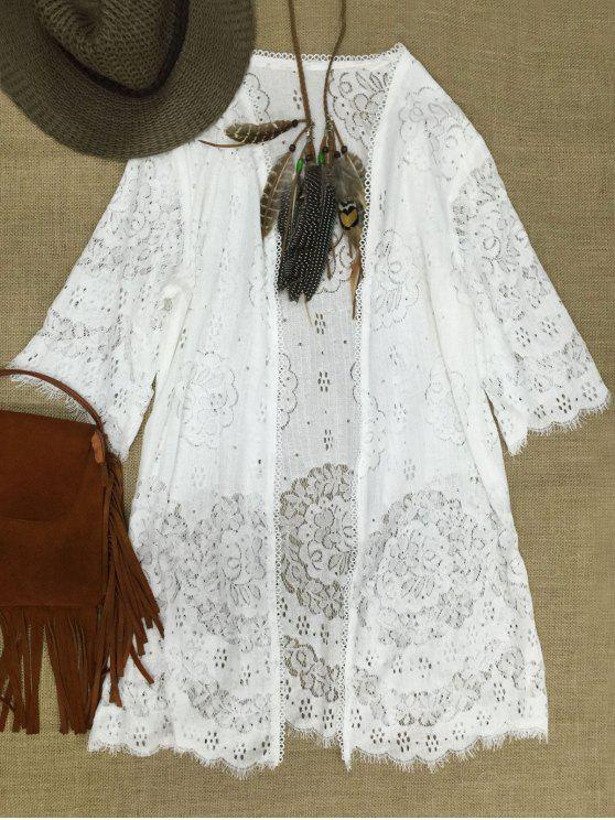 Cielo abierto del cordón del encubrimiento - Blanco Un tamaño(Montar tam
