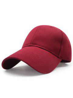Solid Color Sunscreen Baseball Hat - Claret