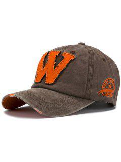 Letter W Baseball Hat - Coffee