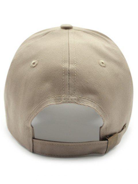 trendy Solid Color Sunscreen Baseball Hat - KHAKI  Mobile