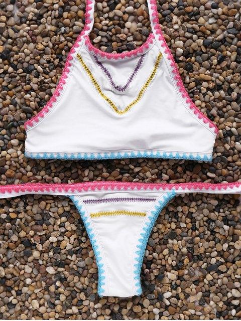 Cintura baja del bikini Conjunto de cuello alto - Blanco Única Talla Mobile