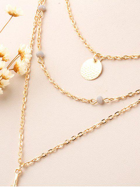 best Fake Feather Layered Necklace -   Mobile