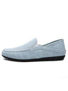 sale new styles Concise Solid Color and Linen Design Loafers For Men - Light Blue 40 outlet cheap price free shipping websites sale comfortable adyg4