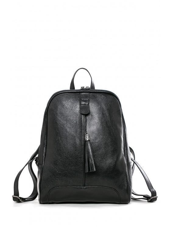fancy Tassel Backpack - BLACK