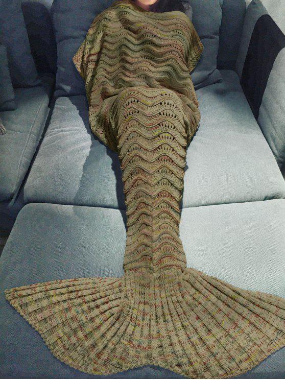 بطانية تصميم ميرميد محبوك لف متعدد الألوان - ترابي