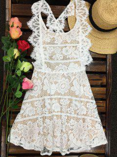 Open Back Prom Dress - Milk White S