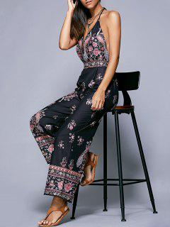 Plunge Backless Jumpsuit - S