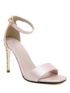 Pink Color Ankle Strap Sandals - Pink 38