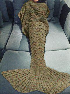 Handmade Knitted Mermaid Blanket - Earthy