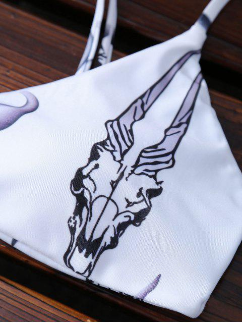 hot Animal Print Padded Bikini - WHITE S Mobile