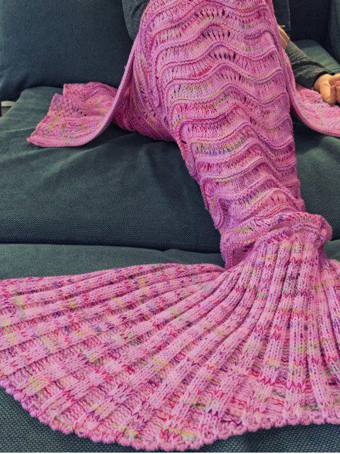 Couverture tricotée multicolore conception Queue de Sirène Pour Adulte - Incarnadin  Mobile