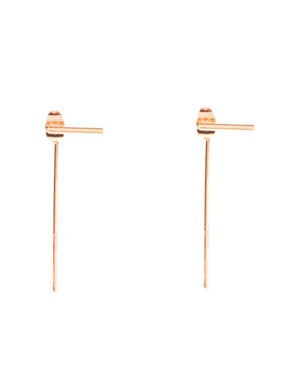 Pendientes de diseño minimalista - Dorado