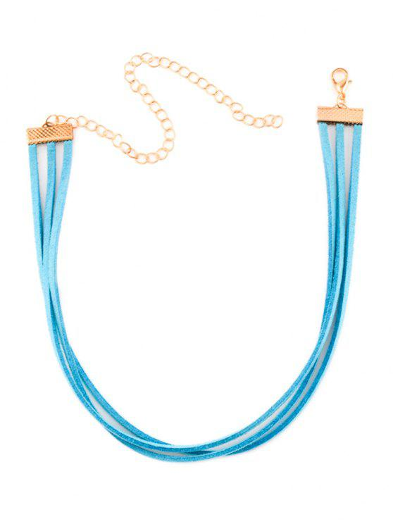 Layered Collana girocollo Strand - Blu