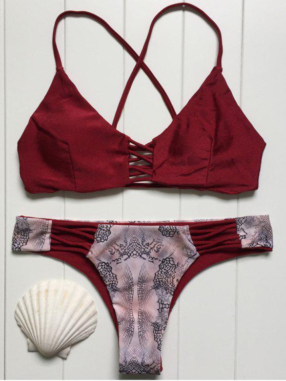 Imprimir Splice Cami Set Bikini - Vino Rojo S