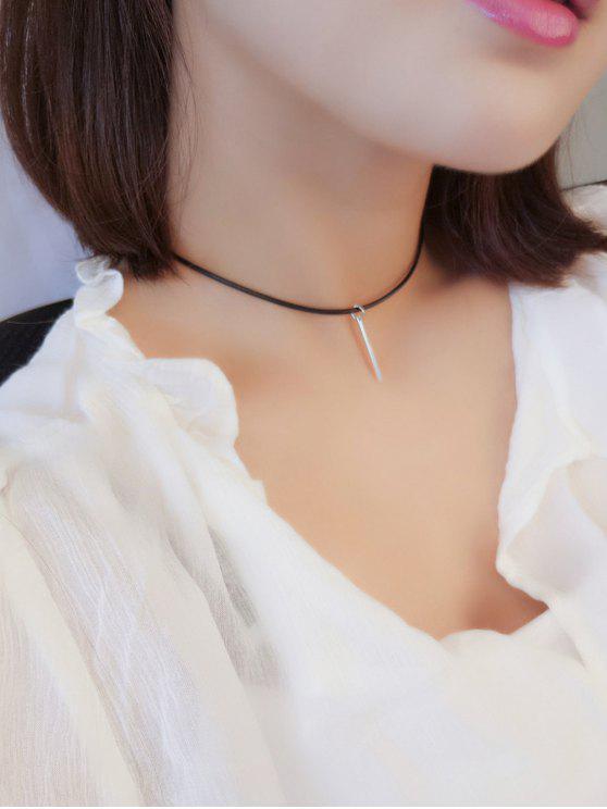 fashion Metal Bar Choker Necklace - SILVER